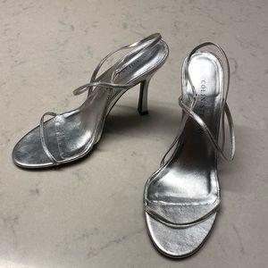 Colin Stuart Silver Strappy Heels